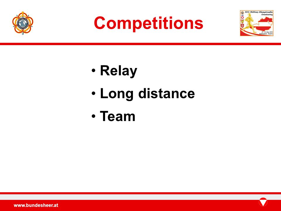Competitions Relay Long distance Team