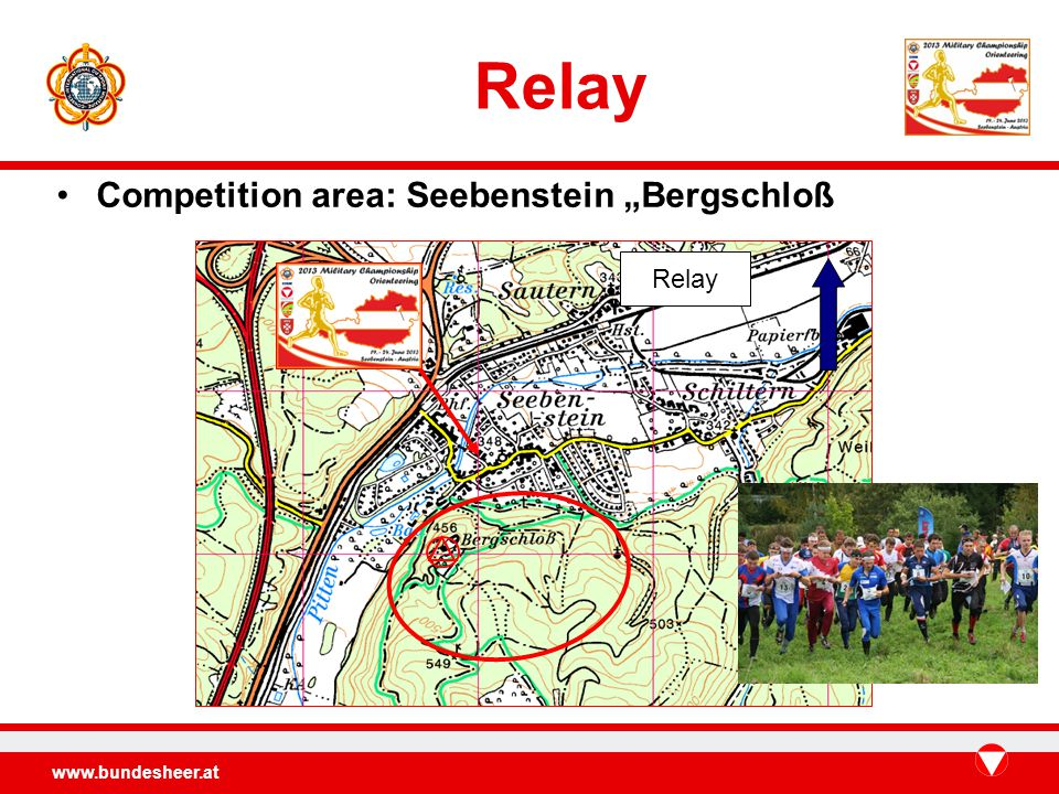 Relay Competition area: Seebenstein Bergschloß Relay