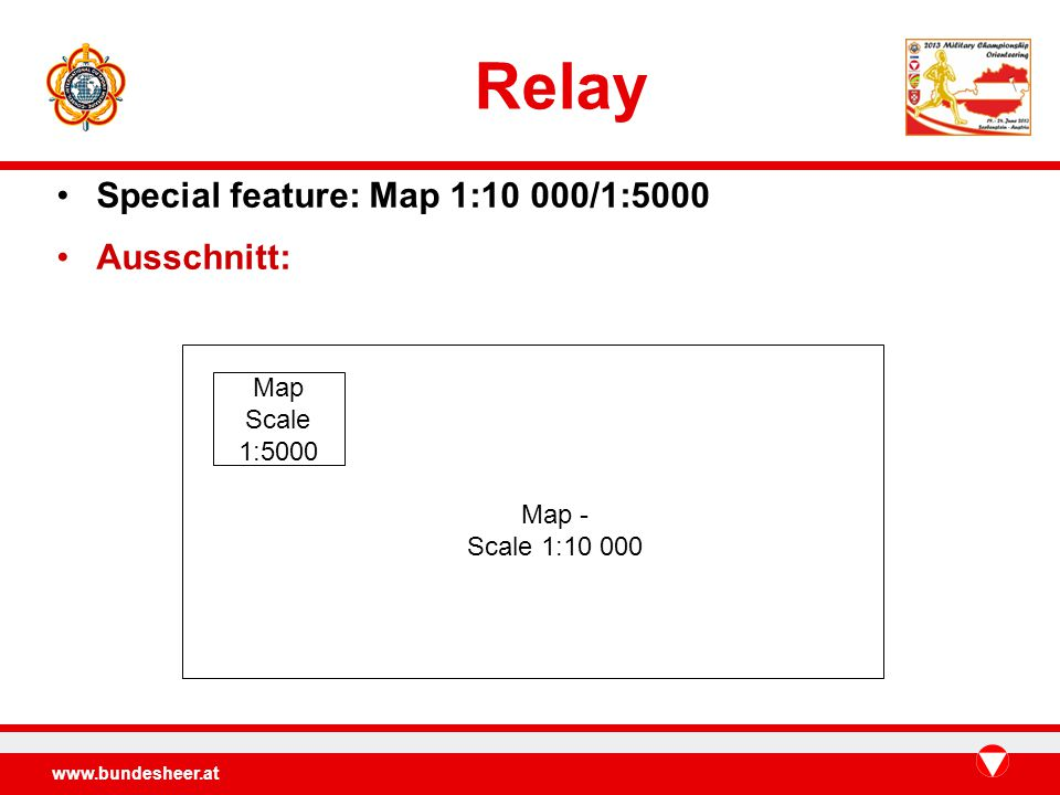Relay Special feature: Map 1:10 000/1:5000 Ausschnitt: Map - Scale 1: Map Scale 1:5000