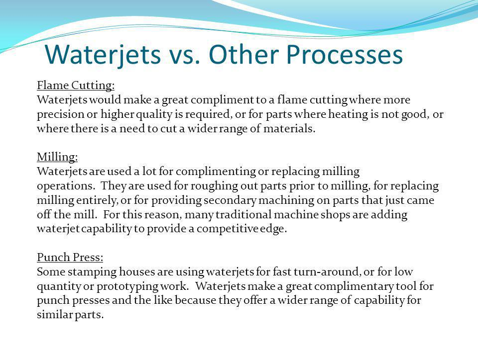 Waterjets vs.