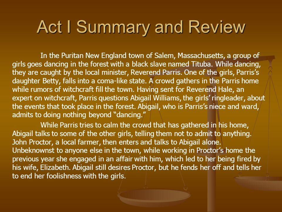 Act III Viewing As you watch the first act, record 5 inner thoughts.