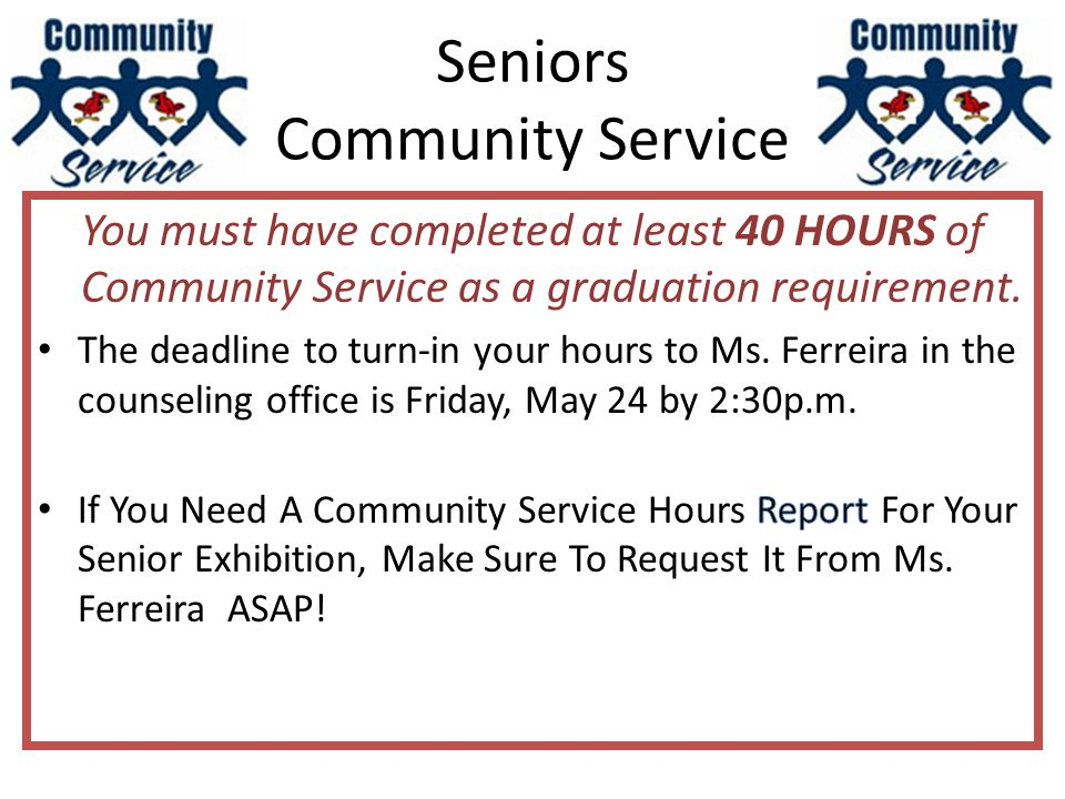 Seniors Community Service