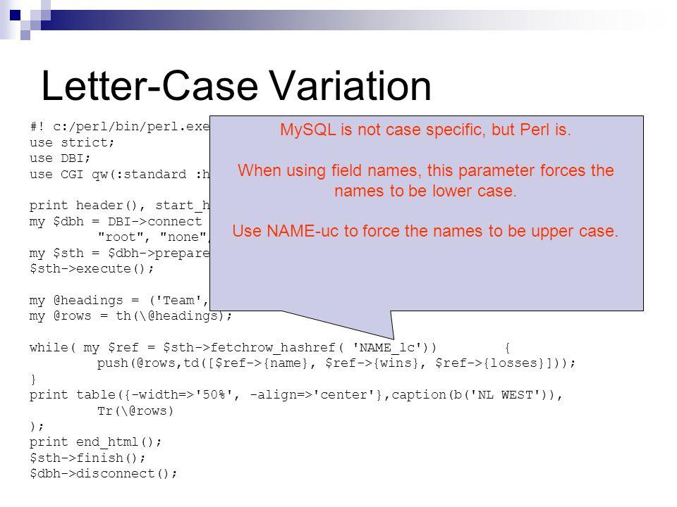 Letter-Case Variation #.