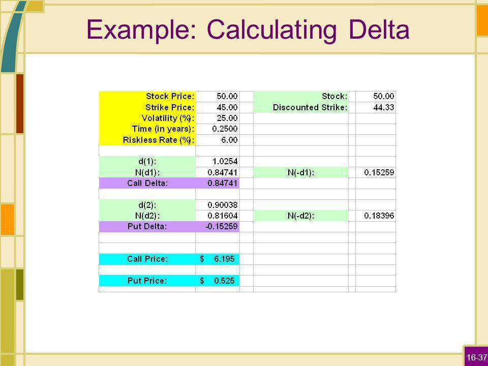 16-37 Example: Calculating Delta