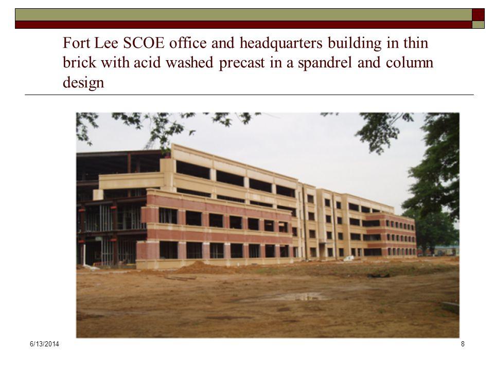 6/13/20149 SCOE-1 APC base panel, TFB columns and spandrels
