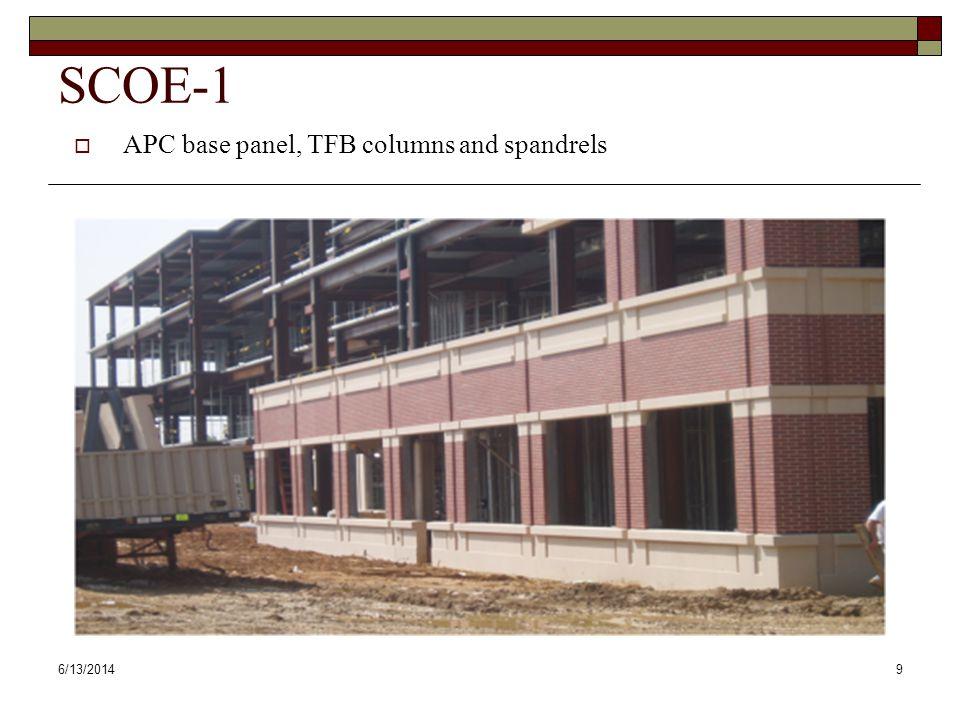 6/13/201410 SCOE-2 APC spandrels in medium acid wash finish