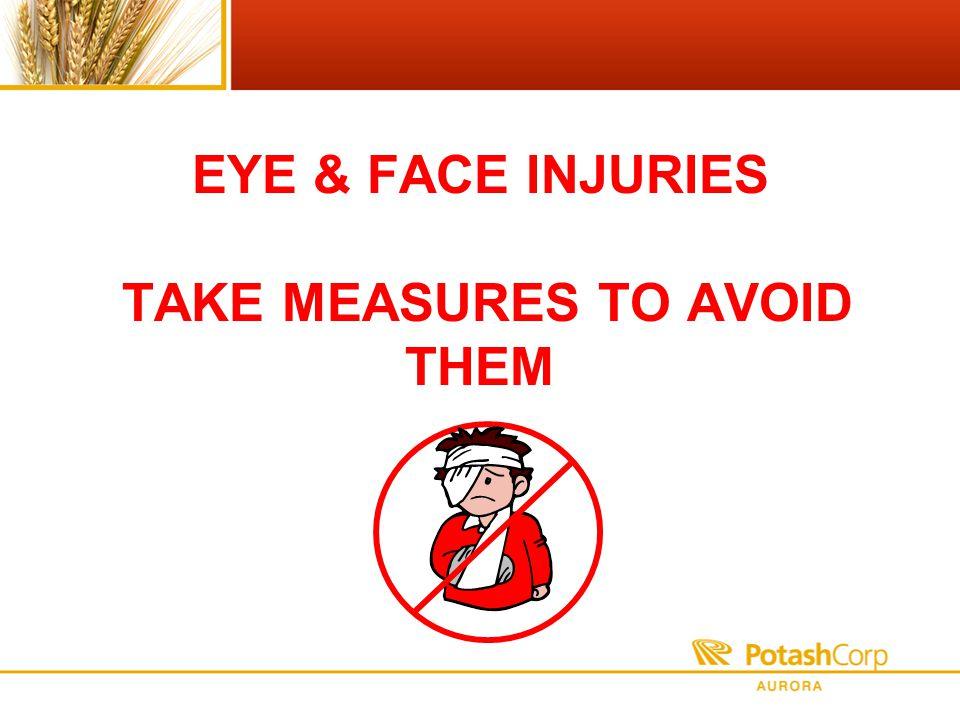 EYE & FACE INJURIES TAKE MEASURES TO AVOID THEM