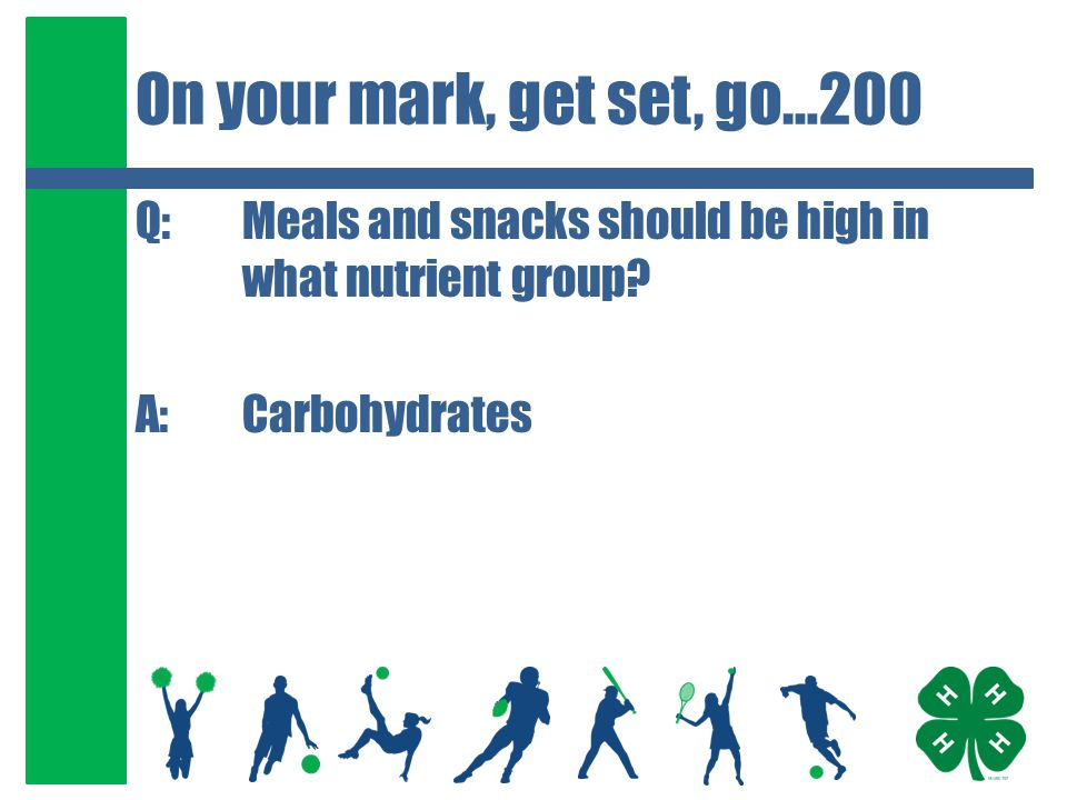 Make the Right Choice…300 Q:Carbohydrate is broken down into glucose which provides our bodies with what.