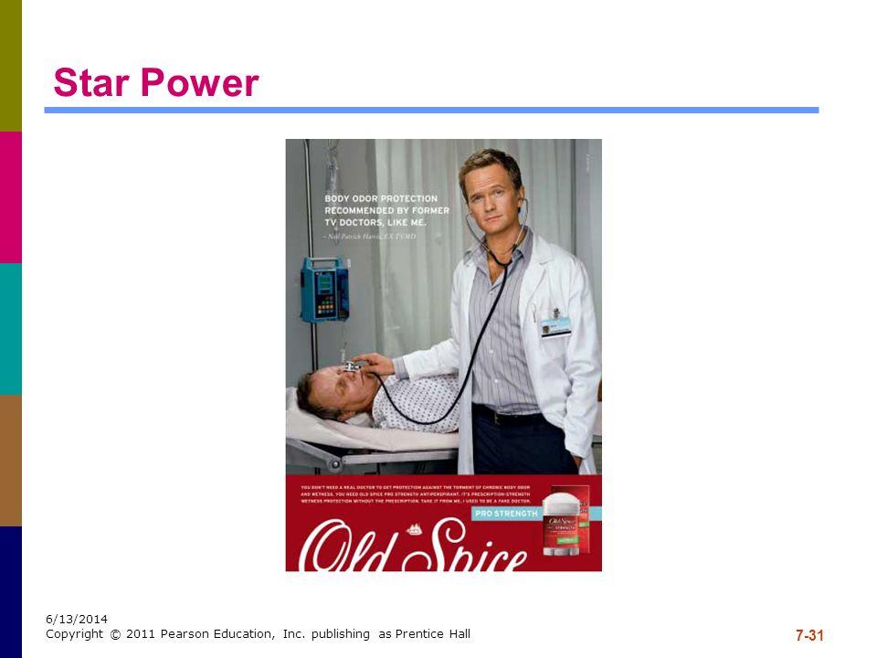 7-31 6/13/2014 Copyright © 2011 Pearson Education, Inc. publishing as Prentice Hall Star Power