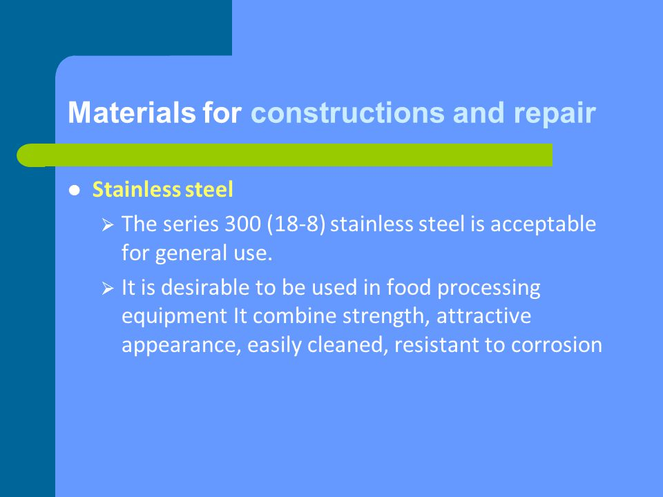 Design and Construction All parts of the equipment shall be accessible for inspection, maintenance, cleaning, and/or sanitation.