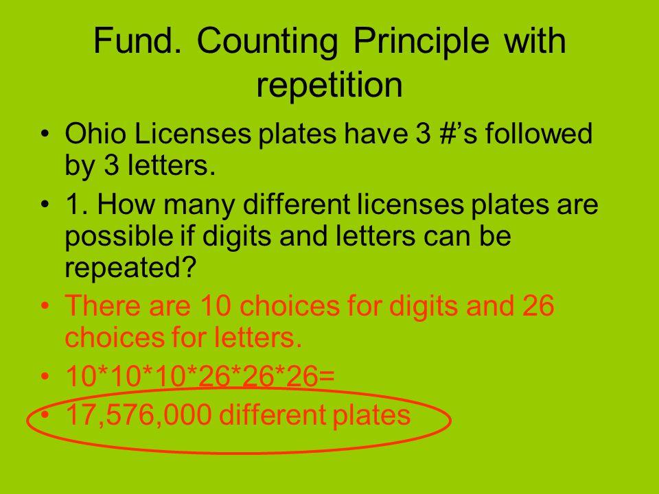 Why do you use a fundamental counting principal.