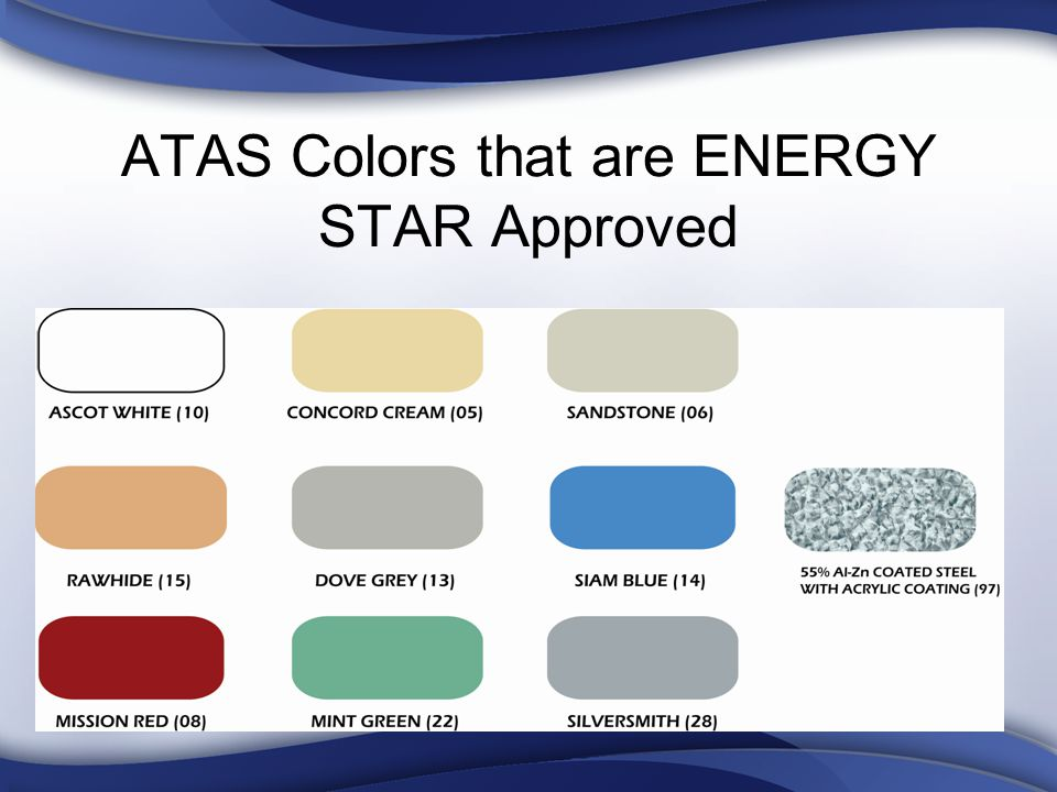 ATAS Colors that are ENERGY STAR Approved
