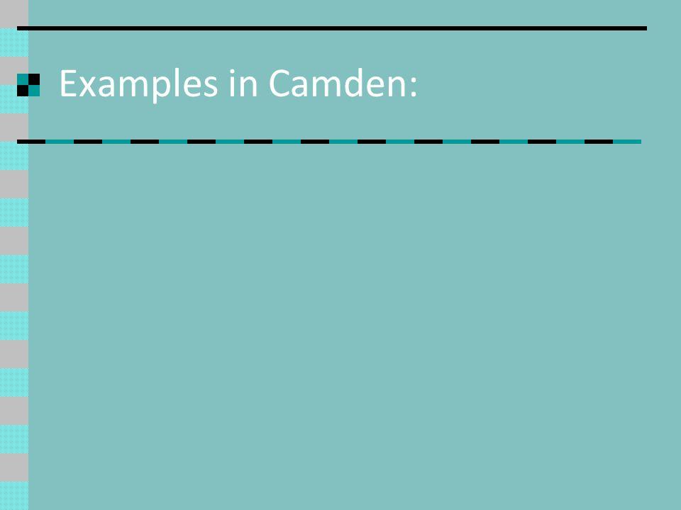 Examples in Camden: