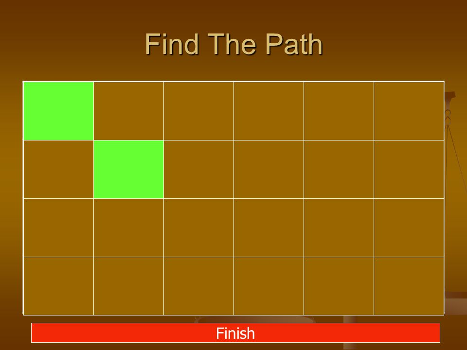 Find The Path Finish
