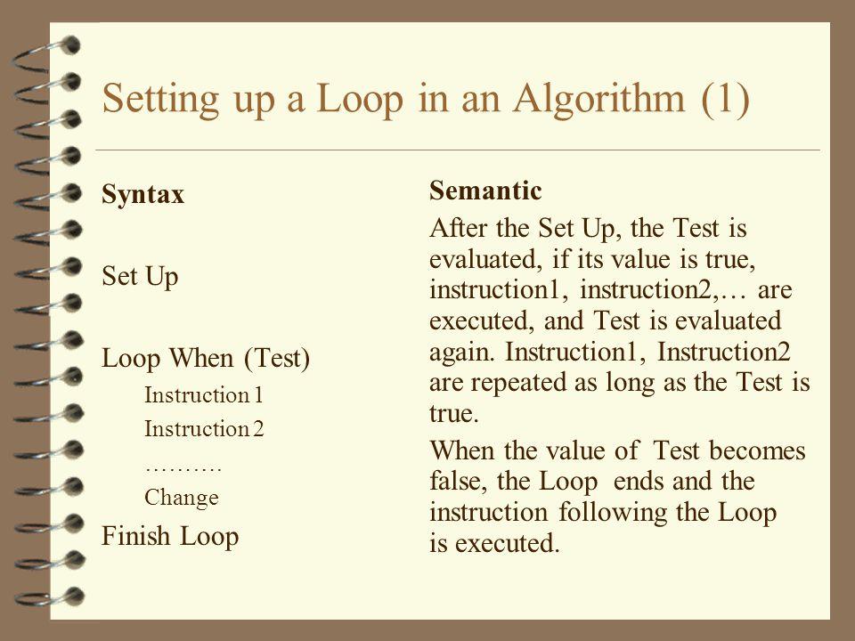 Algorithm 3.4 Name: AVGPOS Givens: N Change: None Results: Avg Intermediates: Again, Sum, Count Definition: Avg := AVGPOS(N)
