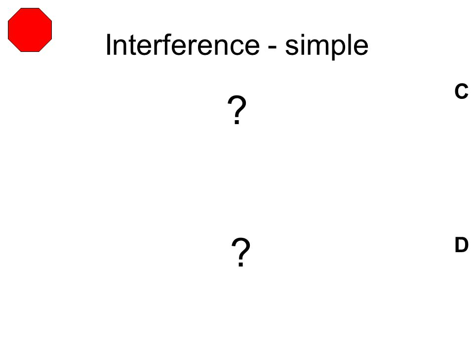 Interference - simple C D ? ?