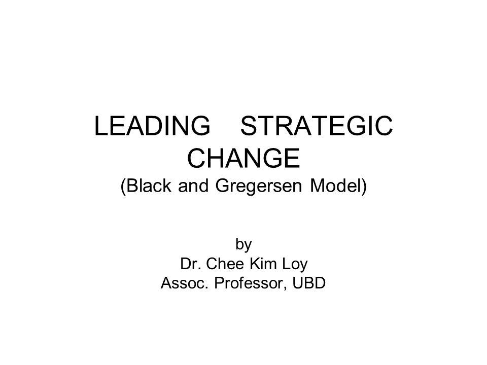 LEADING STRATEGIC CHANGE (Black and Gregersen Model) by Dr. Chee Kim Loy Assoc. Professor, UBD