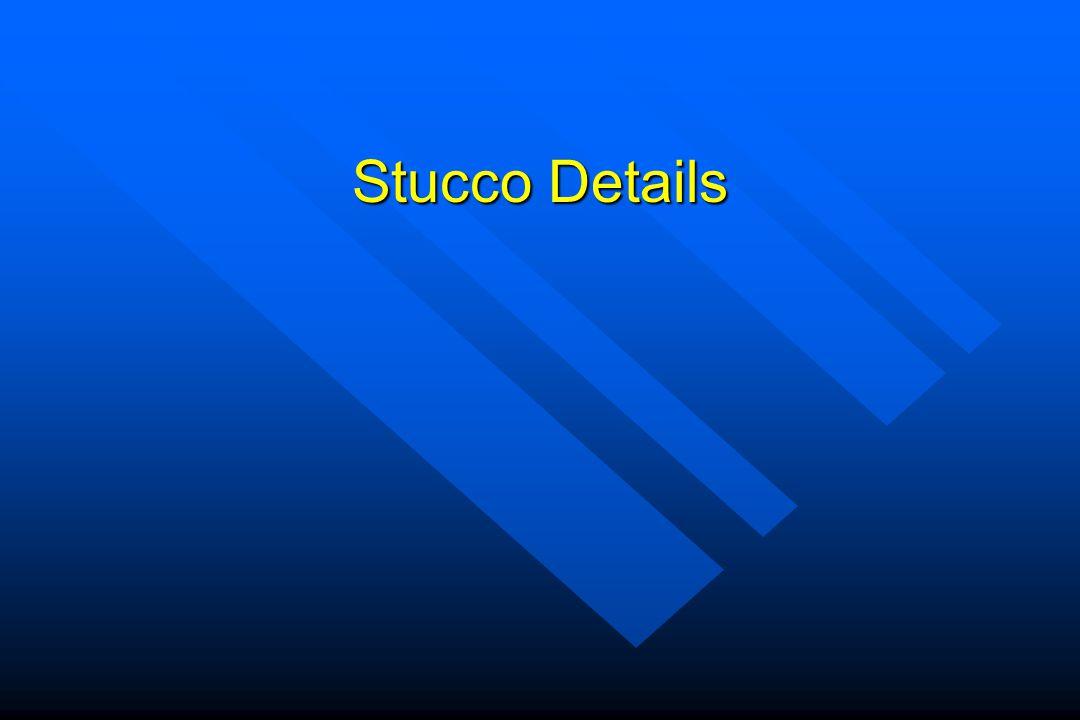 Stucco Details
