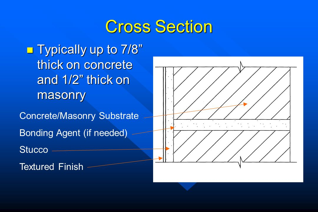 Cross Section Typically up to 7/8 thick on concrete and 1/2 thick on masonry Typically up to 7/8 thick on concrete and 1/2 thick on masonry Concrete/M