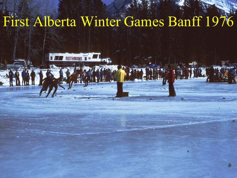 First Alberta Winter Games Banff 1976