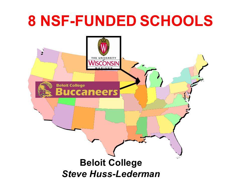 8 NSF-FUNDED SCHOOLS Beloit College Steve Huss-Lederman