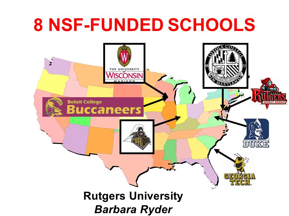 University of Wisconsin – Milwaukee Ethan Munson 8 NSF-FUNDED SCHOOLS