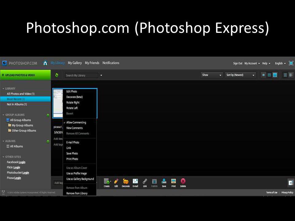 Photoshop.com (Photoshop Express)