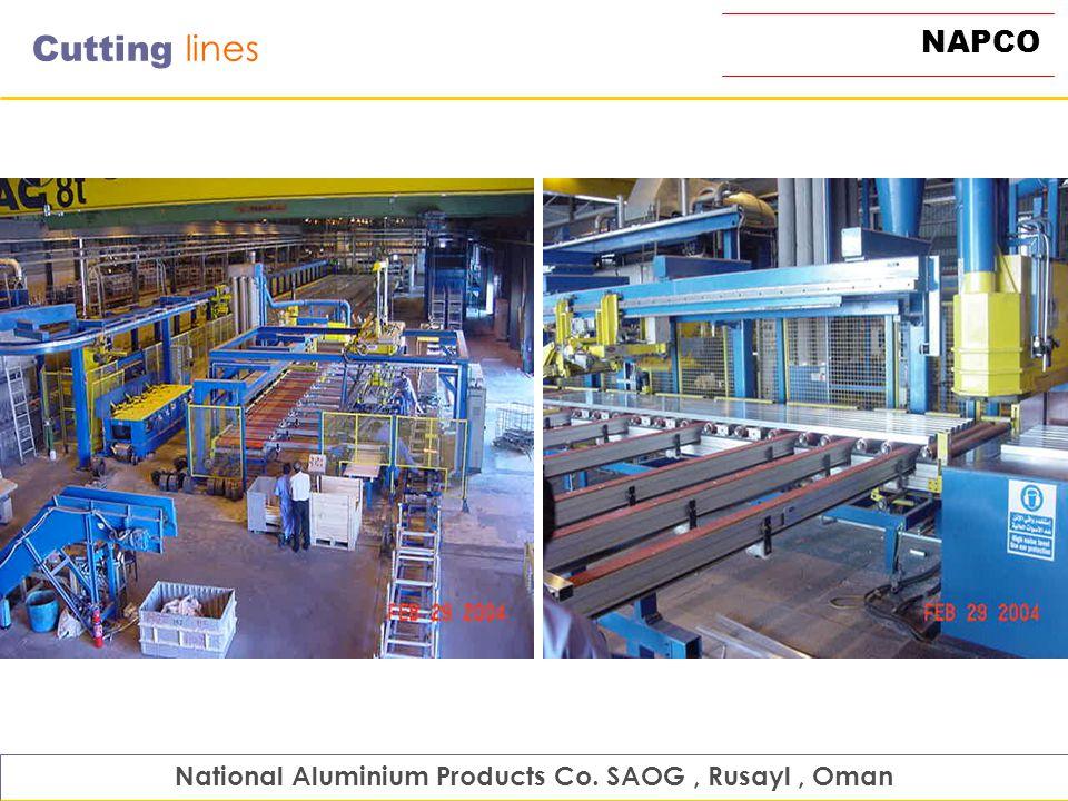 NAPCO Cutting lines National Aluminium Products Co. SAOG, Rusayl, Oman