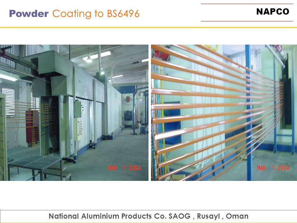 NAPCO Powder Coating to BS6496 National Aluminium Products Co. SAOG, Rusayl, Oman