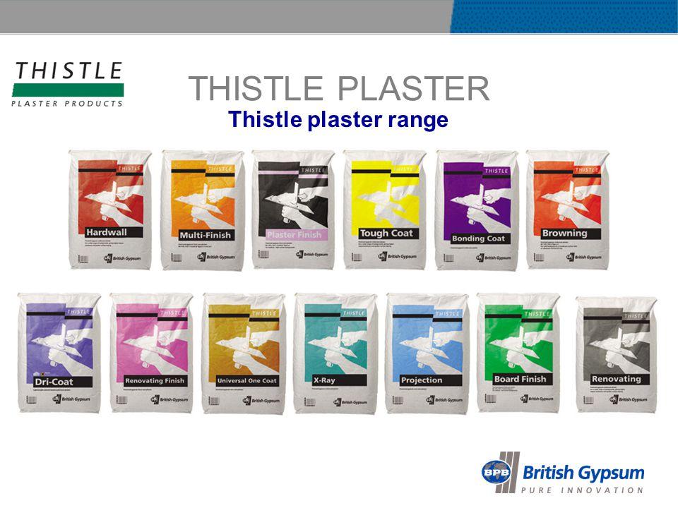 THISTLE PLASTER Thistle plaster range