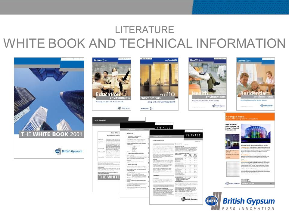 LITERATURE WHITE BOOK AND TECHNICAL INFORMATION