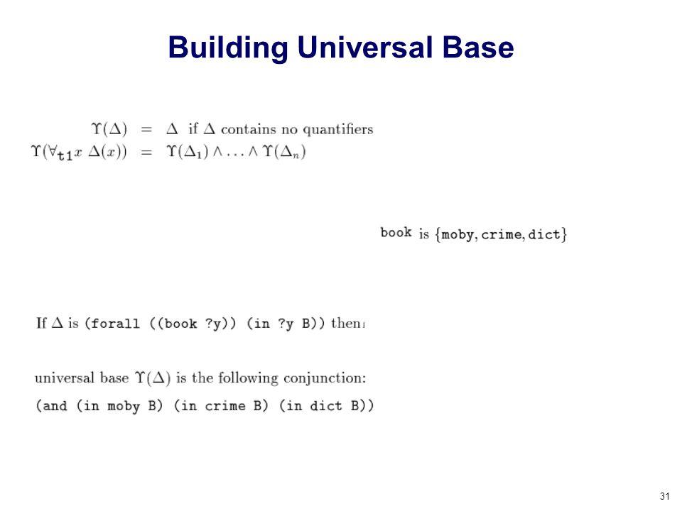 31 Building Universal Base