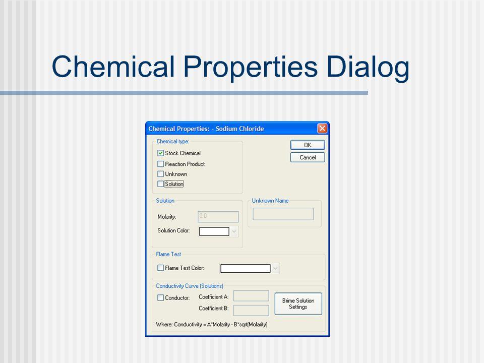 Chemical Properties Dialog