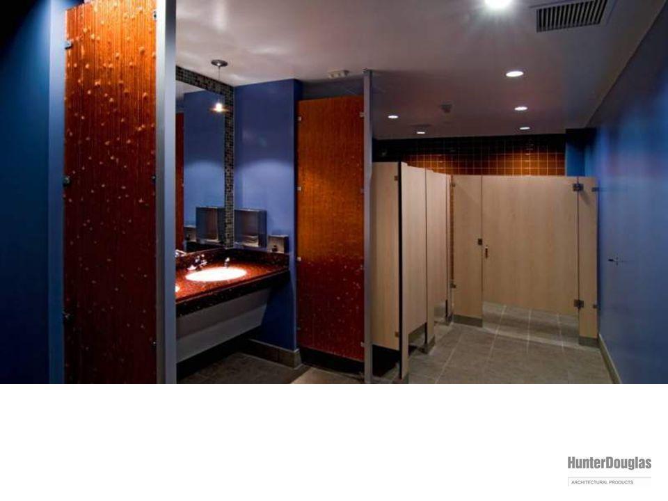 varia installation: bathroom privacy partition