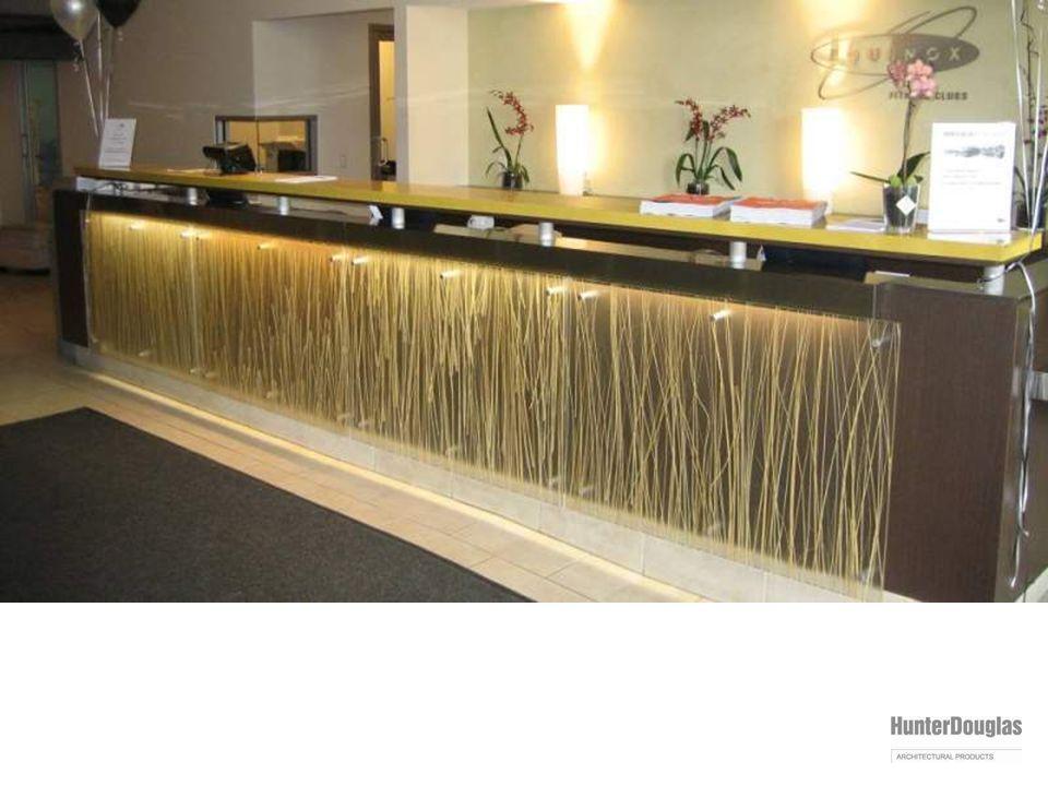varia installation: fitness club reception desk