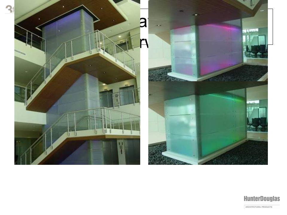 varia installation: lighted stairway