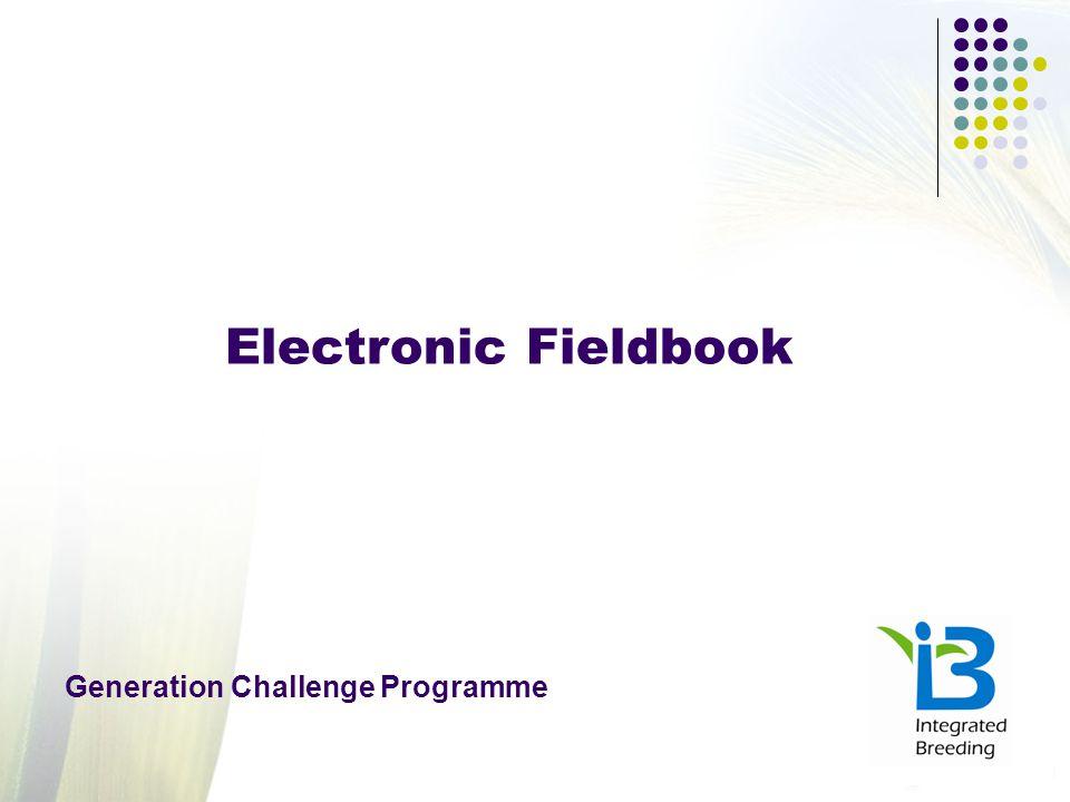 Electronic Fieldbook Generation Challenge Programme