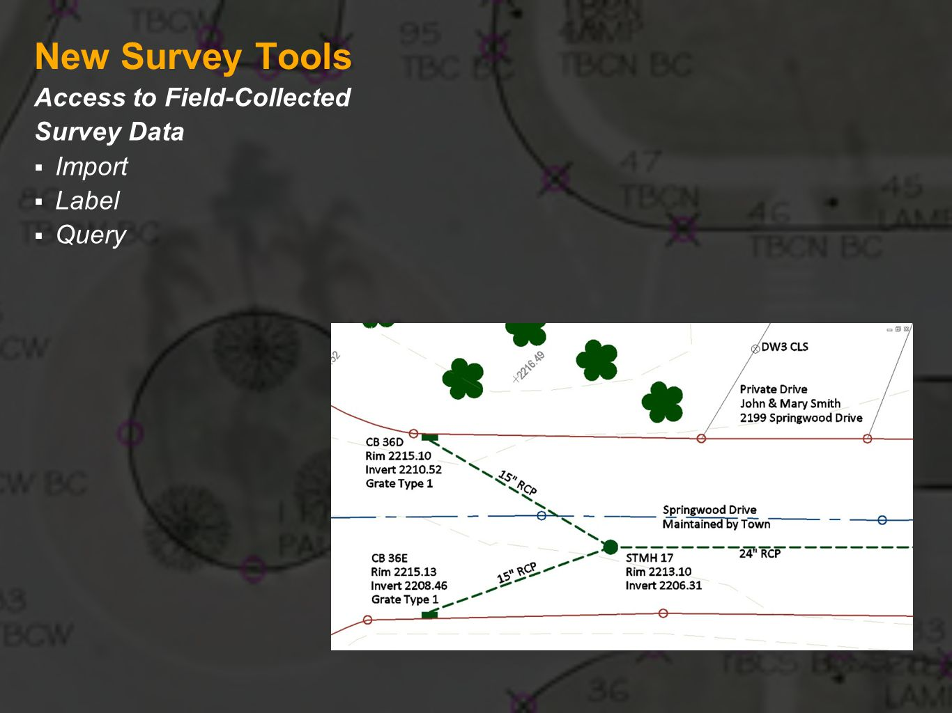 New Survey Tools Access to Field-Collected Survey Data Import Label Query