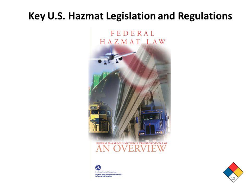 12 Key U.S. Hazmat Legislation and Regulations
