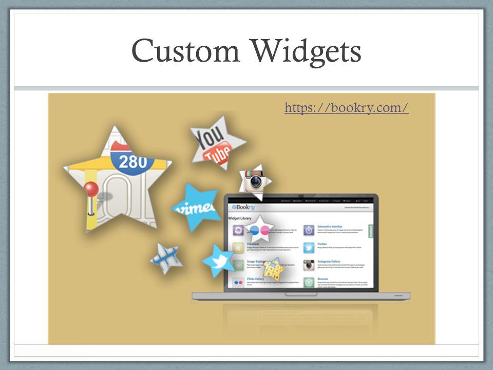 Custom Widgets https://bookry.com/