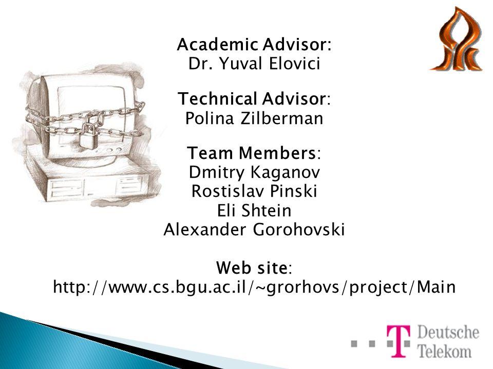 Academic Advisor: Dr.