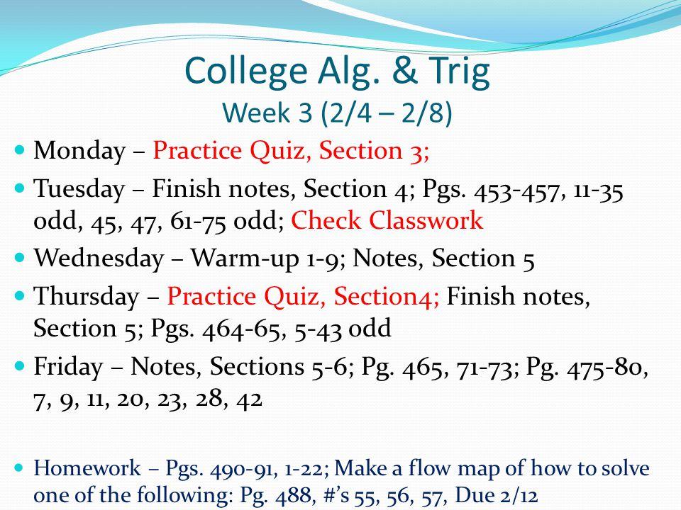 College Alg.