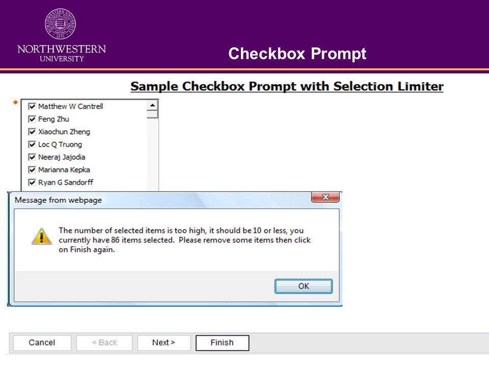 Checkbox Prompt