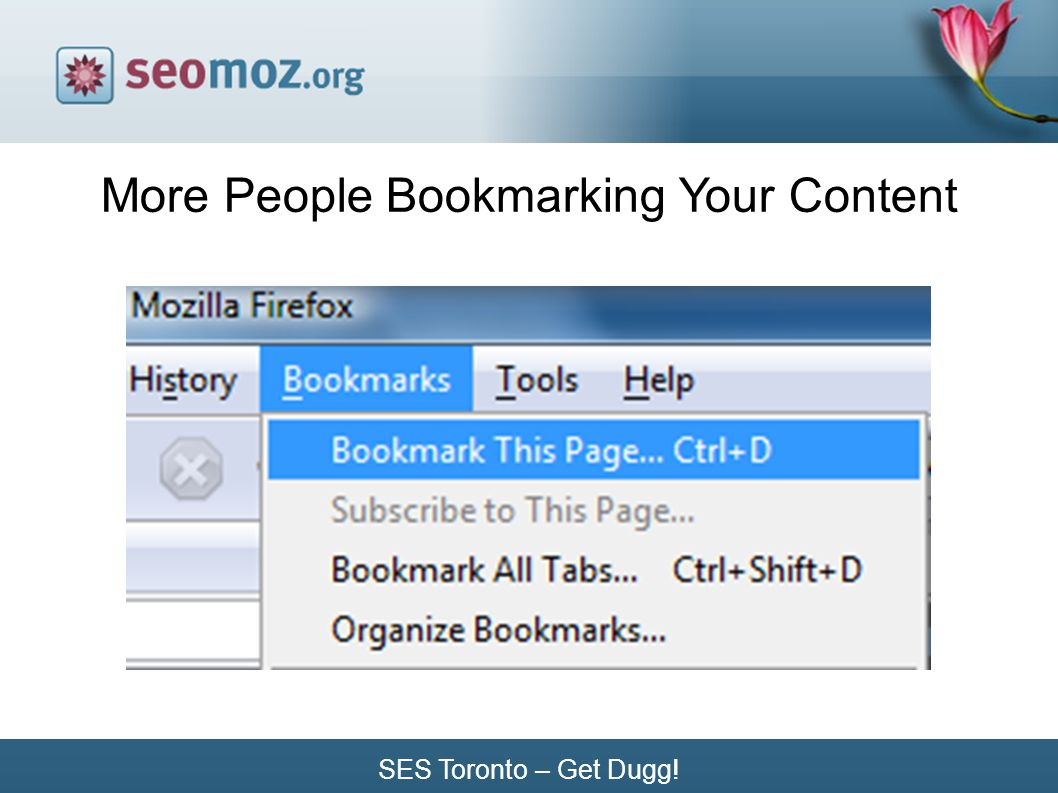 SES Toronto – Get Dugg! More People Bookmarking Your Content