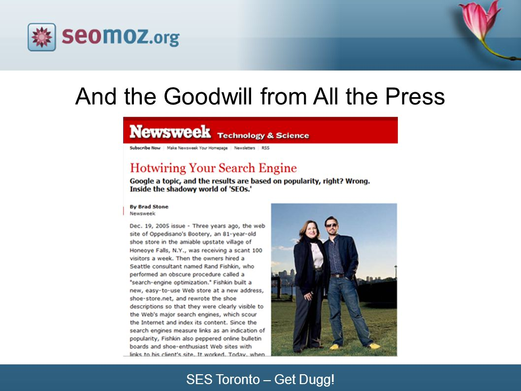 SES Toronto – Get Dugg! And the Goodwill from All the Press