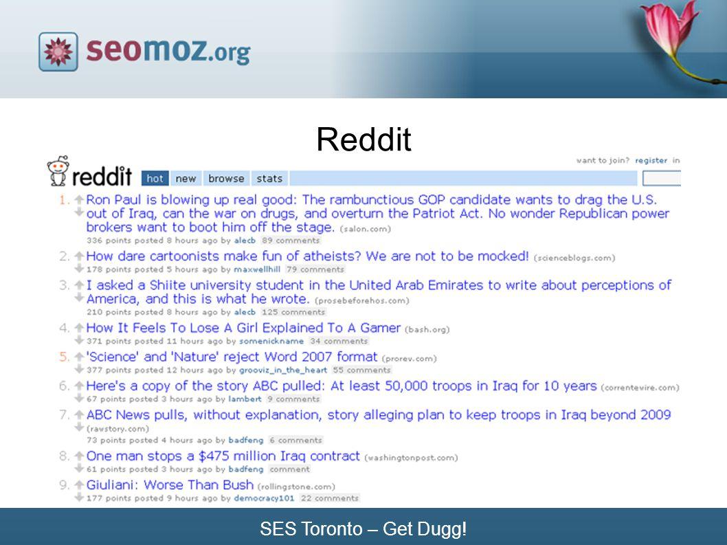 SES Toronto – Get Dugg! Reddit
