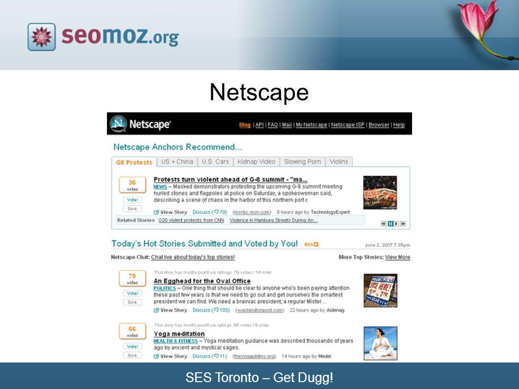 SES Toronto – Get Dugg! Netscape