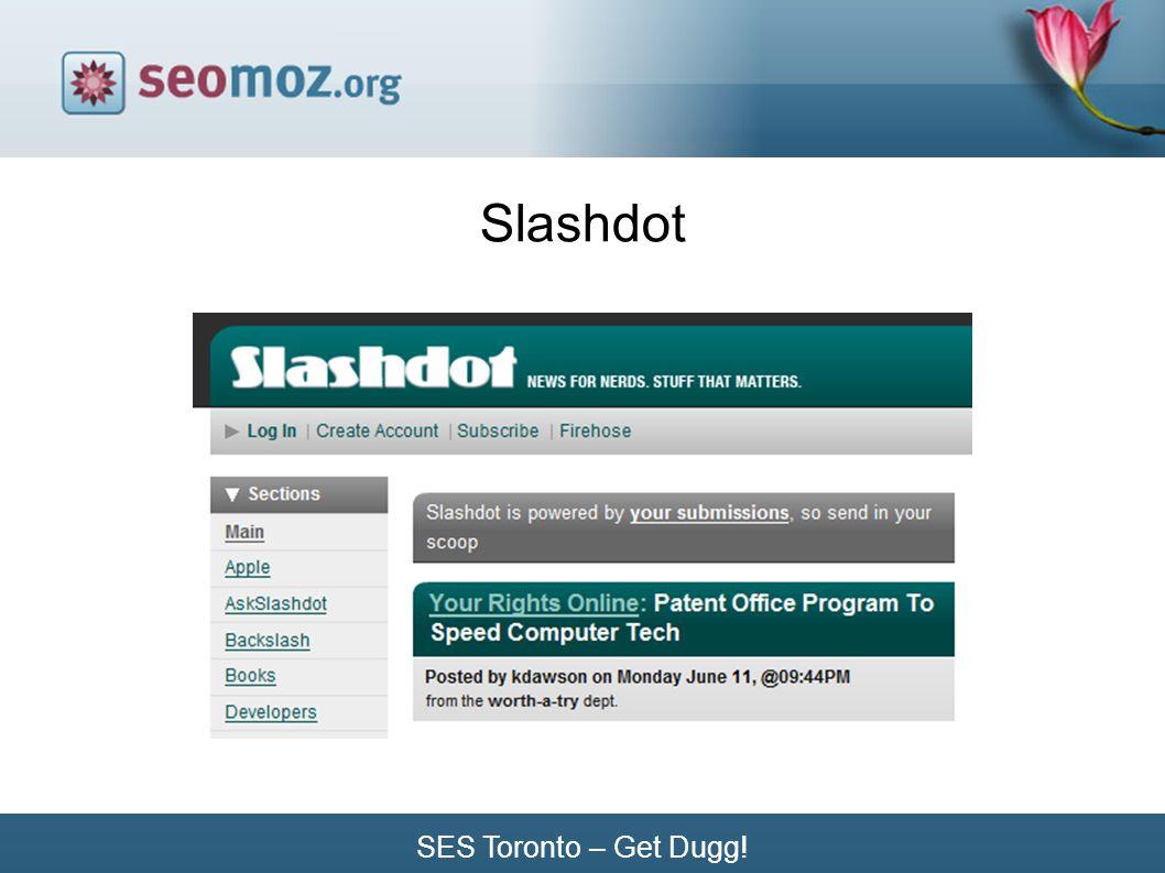 SES Toronto – Get Dugg! Slashdot