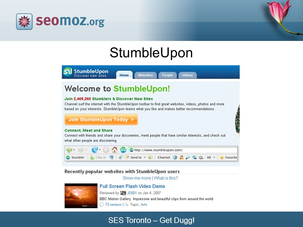 SES Toronto – Get Dugg! StumbleUpon