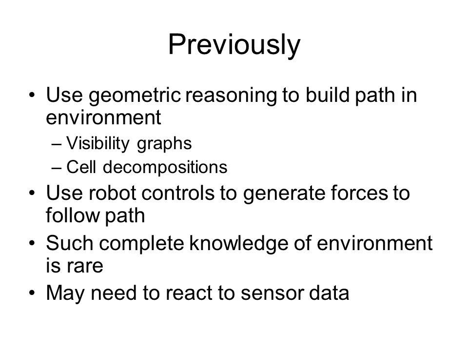 Kinds of sensors for Bug Tactile sensing –Infinite number.
